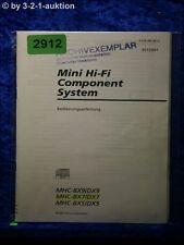 Sony Bedienungsanleitung MHC BX9 /DX9 /BX7 /DX7 /BX5 /DX5 (#2912)