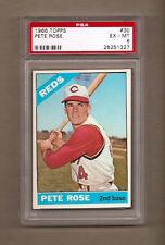 1966 TOPPS PETE ROSE GRADED BASEBALL CARD #30 - PSA 6 EX-MINT - REDS