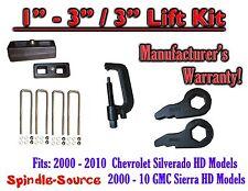 "00 - 10 CHEVY GMC 2500 3500 HD Silverado Sierra 3"" Keys + 3"" Blocks Unload TOOL"