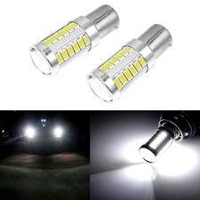 1 Pair BA15S P21W 1156 LED Car Backup Reverse Light White Bulb 33-SMD 5630 5730