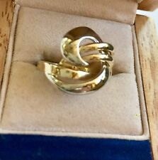 14k Ring Two Tone Russian real gold 585 Size 6 3/4
