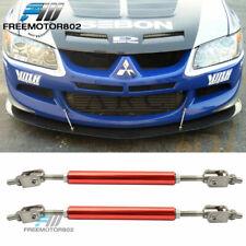 Ajustable Front Bumper Splitter Lip Support Rod Tie Bars 5.5-8 Inch Universal