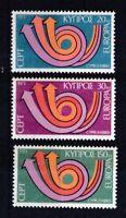 Zypern 1973 postfrisch Europa CEPT MiNr. 389-391