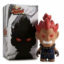 "Akuma Street Fighter 7"" Medium Vinyl Figure by Kidrobot Brand New SNES"