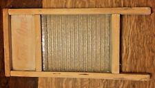 Vintage Two in One Jr Wash Board Glass Insert Carolina Washboard Co Raleigh, NC