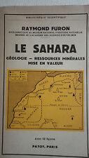 SAHARA FURON  LE SAHARA, GEOLOGIE, RESSOURCES MINERALES, MISE EN VALEUR