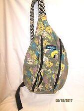 Kavu Rope Sling Bag Green/Beige/Aqua/Yellow) Older pattern GUC
