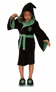 Harry Potter Slytherin House Kids Unisex Hooded Dressing Gown Robe