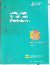 Holt Elements of Literature,Course 4, 10/10th 2003 Text&Language Worksheets NEW!