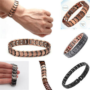 Red Copper Double Strong Magnetic Therapy Bracelet For Arthritis Pain Relief