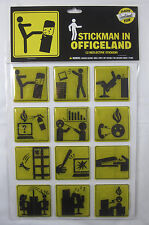 Stickman in Officeland Reflective Stickers - New in Package - 12/Package