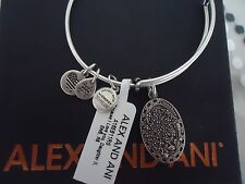Alex and Ani Because I Love You DAUGHTER II Russian Silver Bangle NWT Card & Box