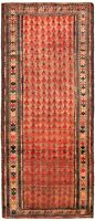 "Hand-knotted Turkish Carpet 4'0"" x 10'0"" Authentic Turkish Traditional Wool Rug"