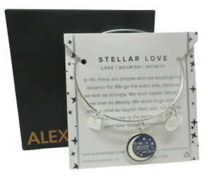 Alex and Ani Stellar Love BRACELET NEW To The Moon and Back Celestial