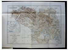 1928 Morris  MAPPING UNKNOWN HUNZA  Exploration  GLACIERS  Color Map Photo - 06