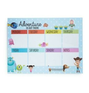 Disney Pixar Weekly Planner Diary To Do List Fridge Magnet All Character Primark