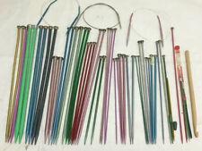 Vintage Lot of 57 Boye & Misc Aluminum & Plastic Single Point Knitting Needles