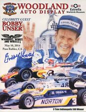 BOBBY UNSER autographed 8x11 color photo          3 TIME INDY 500 WINNER