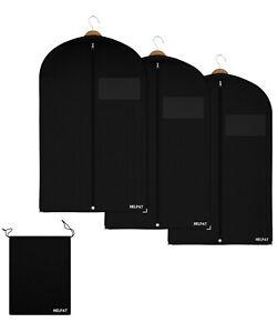 1 bis 10 Premium Kleidersäcke mit Schuhbeutel Kleidersack mit Sichtfenster