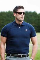 New Mens Golf God Navy/Blue Cotton Polo Shirt TShirt Top Short Sleeve Size XS-XL