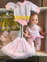 """9"""" Effanbee baby doll w/case and clothes"""