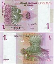 A SAISIR     BILLET   1  CENTIME   CONGO     NEUF   1997       !!!!    UNC .
