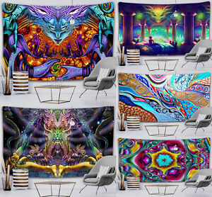 Psychedelic Tapestry Hippie Printing Background Trippy Home Mandala Wall Hanger
