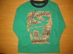 NWOT Gymboree Grizzly Ridge size 5 Green Moose Shirt Top