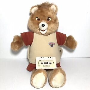1985 Teddy Ruxpin Talking Bear Plush Robot The Airship Cassette Tape Vintage EUC