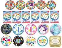 """18"""" Foil Balloon Helium Air Jumbo Happy Birthday Party Decoration Pink Blue Baby"""