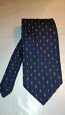Daniel Hechter Men's Vintage Tie in Navy and Yellow Geometric Pattern