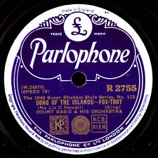 COUNT BASIE &  HIS ORCHESTRA Song of the islands / Nobody knows  78rpm  X1776