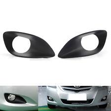 Pair Black ABS Fog Light Grille For Toyota Vios 4DR 06-11 Sedan Hatchback