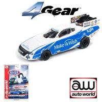 Auto World 4Gear NHRA R21 Tommy Johnson Make-A-Wish 2018 FC HO Scale Slot Car