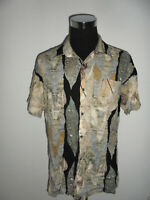 vintage 80`s ROYAL CLUB Hemd crazy pattern viskose shirt 80er jahre oldschool L