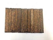 "BLACK PALM PEN BLANKS WOOD TURNING SQUARE 12 CT FREE SHIPPING 3/4"" X 3/4"" X 6"""