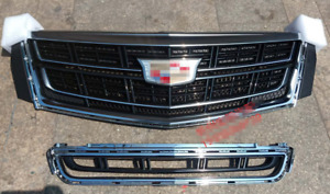 For Cadillac XTS 2013-2017 sliver Front Bumper Upper Grill mesh Grille