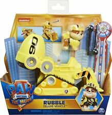 PAW PATROL Rubble's Deluxe Movie Transforming Toy Car with  Action Figure