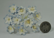 Mulberry Paper Flower Tiny Phlox daisy Picot tee Blush Blue for doll house craf