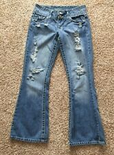 Women's Vanity Dakota Distressed Destroyed Jeans 27 x 31 (Measures 30 x 30.5)