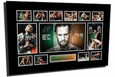 NEW CONOR MCGREGOR UFC 2 DIVISION CHAMP SIGNED LE FRAMED MEMORABILIA