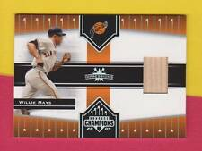 HOF WILLIE MAYS (SP) GAME USED BAT RELIC #354 SF GIANTS 2005 DONRUSS CHAMPIONS