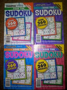 Lot of 4 New Good Time Sudoku Puzzle Books OVER 1000 PUZZLES! Super Jumbo Issues
