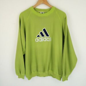 ADIDAS Vintage Y2k Sweatshirt  90S Spell Out Logo SZ Large ( G610)