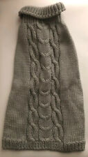 """Large Gray Cable Knit Dog Sweater 21"""" Length NWT for Charity"""