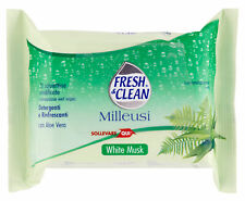 FRESH & CLEAN Wipes Milleusi 20 Pieces White Musk Product For the Cosmetics