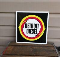 Detroit Diesel Metal Sign Garage Shop Truck Mechanic Repro 12x12 50136