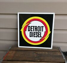 Detroit Diesel Metal Sign Garage Shop Truck Mechanic Repro 12x12 50136