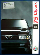 Prospekt brochure Alfa Romeo 75 T.Spark Limited Edition (D, 1991)