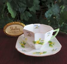SHELLEY Fine Bone China  **PRIMROSE & BLUEBELL** #2341  QUEEN ANNE SHAPE